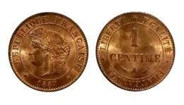 1 Centime Cérès 1887 A (Paris) - Frankrijk