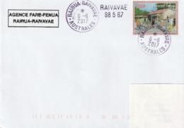 13118  RAIRUA - RAIVAVAE - AUSTRALES - POLYNÉSIE FRANÇAISE - Griffe Linéaire - Lettres & Documents