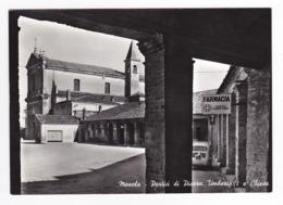 Emilia Romagna MESOLA Portici Di Piazza Umberto I E Chiesa En 1970 Farmacia Carlo Erba FIAT 600 - Italia