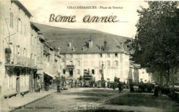 CHAUDESAIGUES  =  Place Du Gravier (+inscription)  ..  955 - Andere Gemeenten