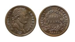 NAPOLÉON Ier DEMI FRANC 1808 D (Lyon) - France
