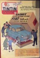 Hebdo Tintin Belgique N°42 De 1957 Hergé - Tintin