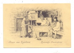 RUSSLAND - Russische Bauernstube, 1916, Deutsche Feldpost - Russland