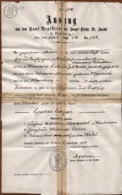 Grand Certificat De Baptême - Auszug Aus Den Tauf-Regiffern Der Haupt-Kirche Saint Jacobi In Hamburg 1861 - Colecciones