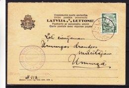 Lettonie - Carte Postale De 1936 - Oblit Matisi - Exp Vers Umurga - Lettonie