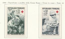 PIA  - FRANCIA  -  1966  : A Profitto Della Croce Rossa -  Opere Do Renoir   - (Yv  1466-67) - First Aid