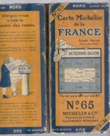 Carte Géographique MICHELIN - N° 065 - AUXERRE - DIJON N°2550-112 - Roadmaps