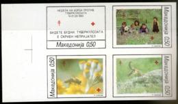 Macedonia,1993,Antituberculosis Week,14-21.09.1993,unperforated Block,MNH* *,as Scan - Mazedonien
