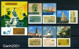 Cuba 2014 / Stamps On Stamps Prephilately MNH Sellos Sobre Sellos Prefilatelia / C9005   2-8 - Sellos Sobre Sellos