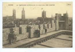 Gent Gand La Terrasse Supérieure Du Château Des Comtes - Gent