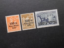 D.R.Mi 258**MNH/259**MNH - 1923 - Mi 4,60 € - Ungebraucht