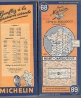 Carte Géographique MICHELIN - N° 064 - ANGERS - ORLÉANS - 1947 - Wegenkaarten