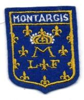 ECUSSON FEUTRINE BLEUE        MONTARGIS         FLEURS DE LYS - Patches
