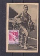 Saint Marin - Carte Postale De 1955 - Oblit Répiblique San Marino - Sports - Anneaux Jeux Olympiques - Carte Maximum  ? - Saint-Marin