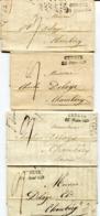 SUISSE De GENEVE Pour CHAMBERY 4 LAC De 1833 Taxées à 9 - Poststempel (Briefe)