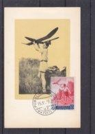 Saint Marin - Carte Postale De 1955 - Oblit Répiblica San Marino - Sports - Avions - Carte Maximum  ? - Saint-Marin