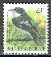 4 F Gobe-mouche Noir : Série Courante Des Oiseaux De Buzin - Belgien