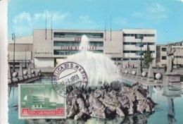 Saint Marin - Carte Postale De 1959 - Oblit Répiblica San Marino - Foire De Milan - Carte Maximum  ? - Saint-Marin