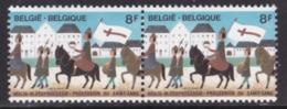 PAIRE NEUVE DE BELGIQUE - PROCESSION DU SAINT-SANG, A BRUGES N° Y&T 2090a - Cultures