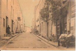 RARE !!! BUSSIERES (42) Rue Centrale En 1911 (Superbe Animation) - Otros Municipios