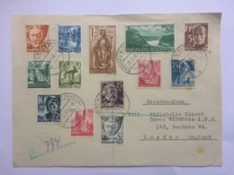 GERMANY 1948 Multi-stamped Front Of Cover Registered Osthofen To London - Zone Française