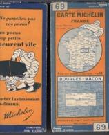 Carte Géographique MICHELIN - N° 069 - Bourges - Mâcon N° 2925-46 - Wegenkaarten