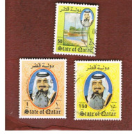 QATAR  -  MI 767.769  -  1984 SHAIKH KHALIFA  -  USED ° - Qatar