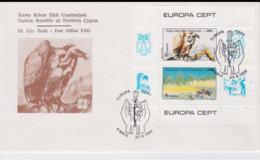Turkish Cyprus 1986 FDC Europa CEPT Minisheet (G103-19) - 1986