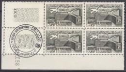 N° 464 En Bloc De 4 Coin Daté 13/10/58 - X X - ( E 1127 ) - Oblitéré En Coin De Feuille - Tunisia (1956-...)