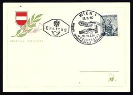 CARTE DE VIENNE- AUTRICHE - 1950 - WIENER MESSE - - 1945-.... 2ème République