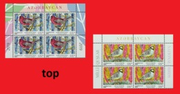 EUROPA 2019. NATIONAL BIRDS. Azerbaijan Stamps 2019. Two TOP Parts With 8 Stamps Stamps From Full Sheets EUROPE 2019 - Azerbeidzjan