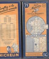 Carte Géographique MICHELIN - N° 071 La ROCHELLE - BORDEAUX 1948 - Wegenkaarten