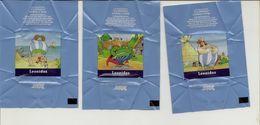 Emballage De Carré De Chocolat Leonidas (lot De 3) Théme Astérix - Otros