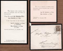 Faire -Part De Décès De Frau Dr. Med. Ad. Schultze Wwe Anne Henriette Geb. Bose Du 28.12.1900 Dans Son Enveloppe - Esquela