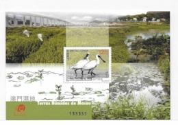 Macau 2015 Wetlands M/S MNH Fauna Bird Wetland - Unused Stamps