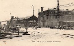 83 LA SEYNE SUR MER INTERIEUR DES FORGES ET CHANTIERS DE LA MEDITERRANEE BELLE ANIMATION - La Seyne-sur-Mer