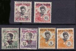 KOUANG-TCHEOU - 6 Valeurs Neuves Entre 1908 Et 1923TB - Unused Stamps