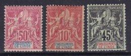 INDE - 3 Groupe Neufs TTB - Indien (1892-1954)