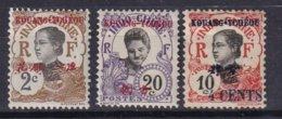 KOUANG-TCHEOU - 3 Timbres De 1908/19 Neufs TTB - Unused Stamps