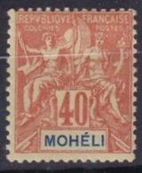 MOHELI - 40 C. Groupe Neuf TTB - Mohéli (1906-1912)