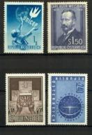 Osterreich - Austria = MNH - 4 Rare Mint Stamps 1949-1956 - 1945-.... 2. Republik