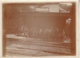 Photo Ancienne : Scoutisme : Groupe De Scouts En Gare De PALAISEAU-VILLEBON - ( Essonne ) Format 12cm X 9cm  - - Lugares