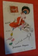 Cpa Illustrateur Xavier SAGER C'est Du Combien - Comicfiguren