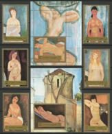 Fujeira,Art-Nudes 1972.,set+blocks,MNH - Fujeira