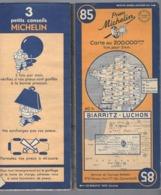 Carte Géographique MICHELIN - N° 085 BIARRITZ - LUCHON 1949 - Wegenkaarten