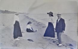 Très Rare Photo Sur Plaque De Verre  10 X 15  Cm  Promenade Au Bord De L'eau  1900-1910 - Glasdias