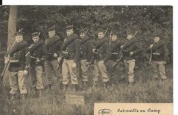 Belgique Carte Militaire Patrouille Au Camp + Etoile Violette Pour La France 1919  ....G - WW I
