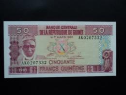 RÉPUBLIQUE DE GUINÉE : 50  FRANCS GUINÉENS  1985    P 29a    NEUF - Guinea