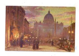 VATICAN - Piazza Di San Pietro, Künstler-Karte - Vatikanstadt