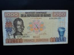 RÉPUBLIQUE DE GUINÉE : 1000  FRANCS GUINÉENS  1985    P 32a    TTB - Guinea